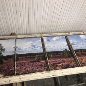 Blick in die Heide - Bolterberg Panorama - Panorama Foto und Holzrahmen das erste Mal vereint